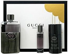 Parfums et Produits cosmétiques Gucci Guilty Pour Homme - Coffret (eau de toilette/90ml + déodorant stick/75ml + eau de toilette/15ml)