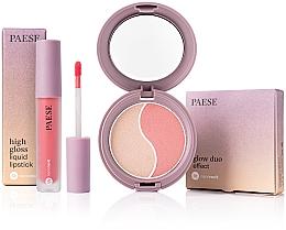 Parfums et Produits cosmétiques Paese - Set (poudre / 4,5 g + rouge à lèvres liquide / 4,5 ml)