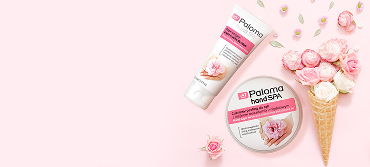 Pour tout achat de produits Paloma à partir de 5 € recevez un gommage au sucre pour mains en cadeau