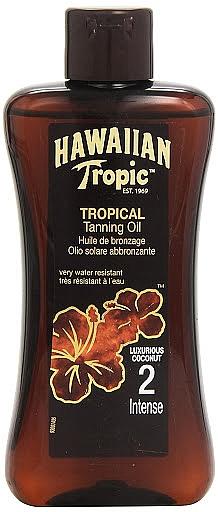 Lotion accélératrice de bronzage - Hawaiian Tropic Sun Tan Oil Intense SPF 2 — Photo N1