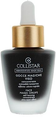 Concentré autobronzant gouttes magiques visage - Collistar Abbronzatura Senza Sole Self Tanning Concentrate Ultra Rapid Effect