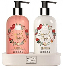 Parfums et Produits cosmétiques Scottish Fine Soaps Spiced Apple - Set (savon liquide/300ml + lotion pour mains/300ml)