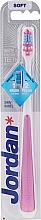 Parfums et Produits cosmétiques Brosse à dents, souple, rose - Jordan Shiny White Toothbrush Soft