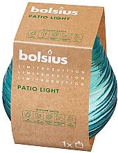 Parfums et Produits cosmétiques Bougie parfumée en verre Patio light Sky, 94/91 mm, bleu - Bolsius