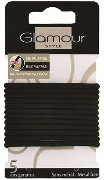 Élastiques à cheveux, 414687, noir - Glamour