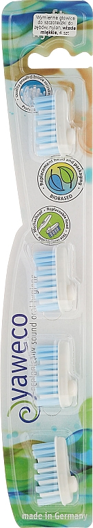 Têtes de remplacement pour brosse à dents, souples - Yaweco Toothbrush Heads Nylon Soft — Photo N4
