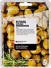 Parfums et Produits cosmétiques Masque tissu purifiant pour visage, Olive - Superfood For Skin Refining Sheet Mask