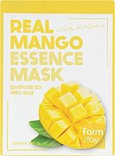 Parfums et Produits cosmétiques Masque tissu à l'extrait de mangue pour visage - FarmStay Real Mango Essence Mask