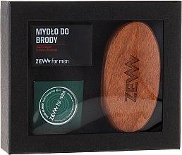 Parfums et Produits cosmétiques Zew For Men Set - Set soin barbe (huile /30 ml + savon/85g + brosse)