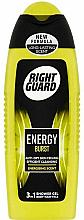 Parfums et Produits cosmétiques Gel douche pour corps,cheveux et visage - Right Guard Energy Burst Shower Gel