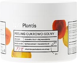 Parfums et Produits cosmétiques Gommage à l'extrait de litchi et macadamia pour corps - Vis Plantis Sugar & Salt Body Scrub