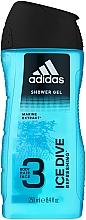 Parfums et Produits cosmétiques Gel douche visage, corps et cheveux - Adidas Ice Dive Body, Hair and Face Shower Gel