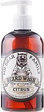 Parfums et Produits cosmétiques Shampooing à barbe, Agrumes - Mr. Bear Family Beard Wash Citrus
