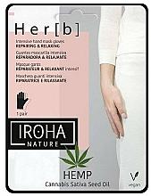 Parfums et Produits cosmétiques Masque gants à l'huile de chanvre pour mains - Iroha Nature Cannabis Hand Mask