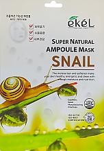Parfums et Produits cosmétiques Masque tissu à l'extrait d'escargot pour visage - Ekel Super Natural Ampoule Mask Snail