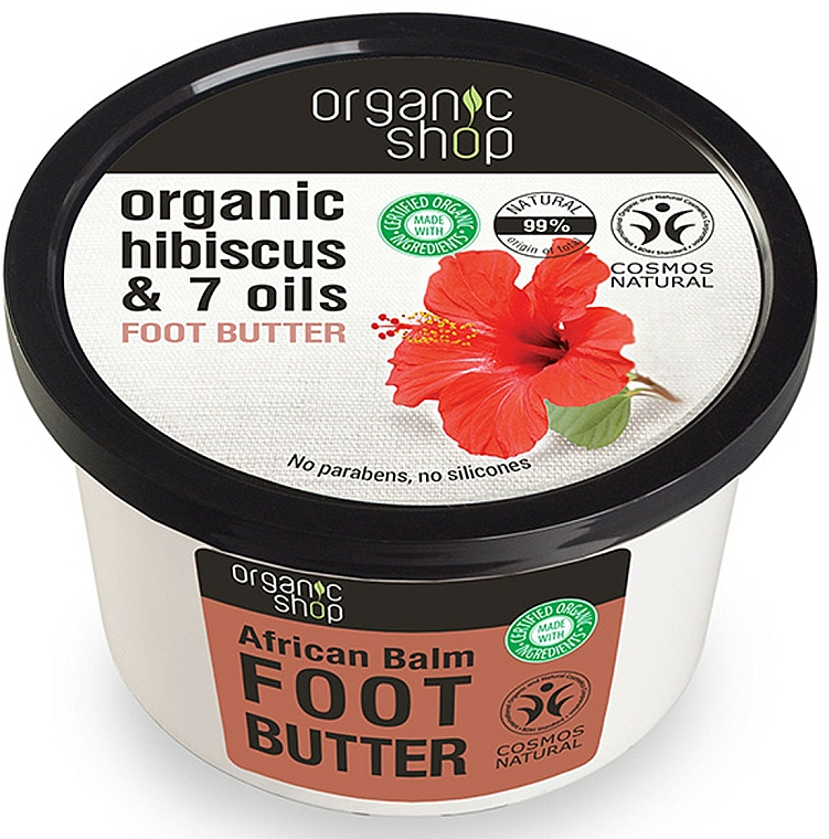 Baume aux huiles africaines et hibiscus pour pieds - Organic Shop Organic Hibiscus & 7 Oils Foot Butter — Photo N1