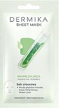 Parfums et Produits cosmétiques Masque tissu hydratant au jus d'aloe vera pour visage - Dermika Sheet Mask