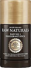 Parfums et Produits cosmétiques Déodorant stick sans alcool - Recipe For Men RAW Naturals No. 1 Deodorant Stick