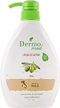 Parfums et Produits cosmétiques Savon liquide crémeux bio, Olive - Dermomed Oliva Cream Soap