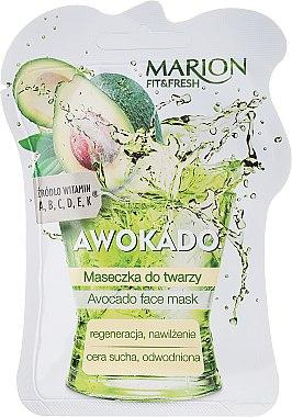 Masque à l'avocat et vitamines pour visages et cou - Marion Fit & Fresh Avocado Face Mask