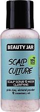 Parfums et Produits cosmétiques Masque exfoliant à l'argile rose pour cuir chevelu - Beauty Jar Scalp Culture Scrub & Mask