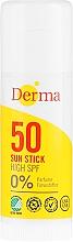 Parfums et Produits cosmétiques Stick solaire SPF 50 pour visage et corps - Derma Sun Sun Stick High SPF50