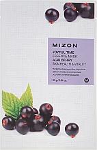 Parfums et Produits cosmétiques Masque tissu à l'extrait de baies d'açai pour visage - Mizon Joyful Time Essence Mask Acai Berry