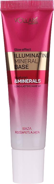 Base de teint illuminatrice à l'acide hyaluronique et minéraux - Vollare Glow Effect Illuminating Mineral Base