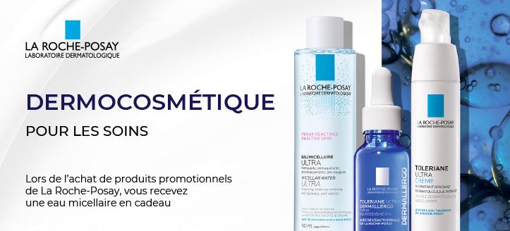 Vous recevez une eau micellaire en cadeau, lors de l'achat de produits promotionnels de La Roche-Posay
