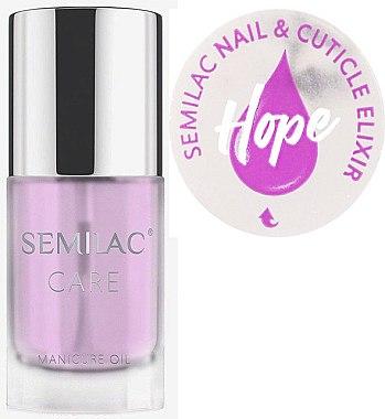 Huile-élixir à saveur de jasmin et lys pour ongles et cuticules - Semilac Care Nail & Cuticle Elixir Hope