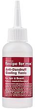 Parfums et Produits cosmétiques Lotion tonique à l'acide salicylique pour cheveux - Recipe For Men Anti-Dandruff Cooling Tonic