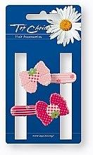 Parfums et Produits cosmétiques Barrettes cheveux, rose et rouge, 24900 - Top Choice