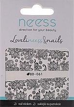 Parfums et Produits cosmétiques Autocollants pour ongles, 3685, BD-061 - Neess LoveliNeess & Nails