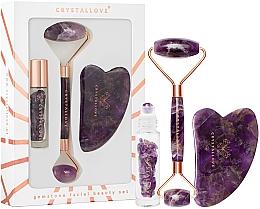 Parfums et Produits cosmétiques Crystallove Amethyst Beauty Set - Kit de massage Gua Sha