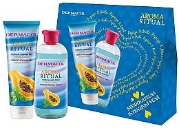 Parfums et Produits cosmétiques Dermacol Aroma Ritual Papay & Mint - Set (gel douche/250ml + mousse de bain/500ml)