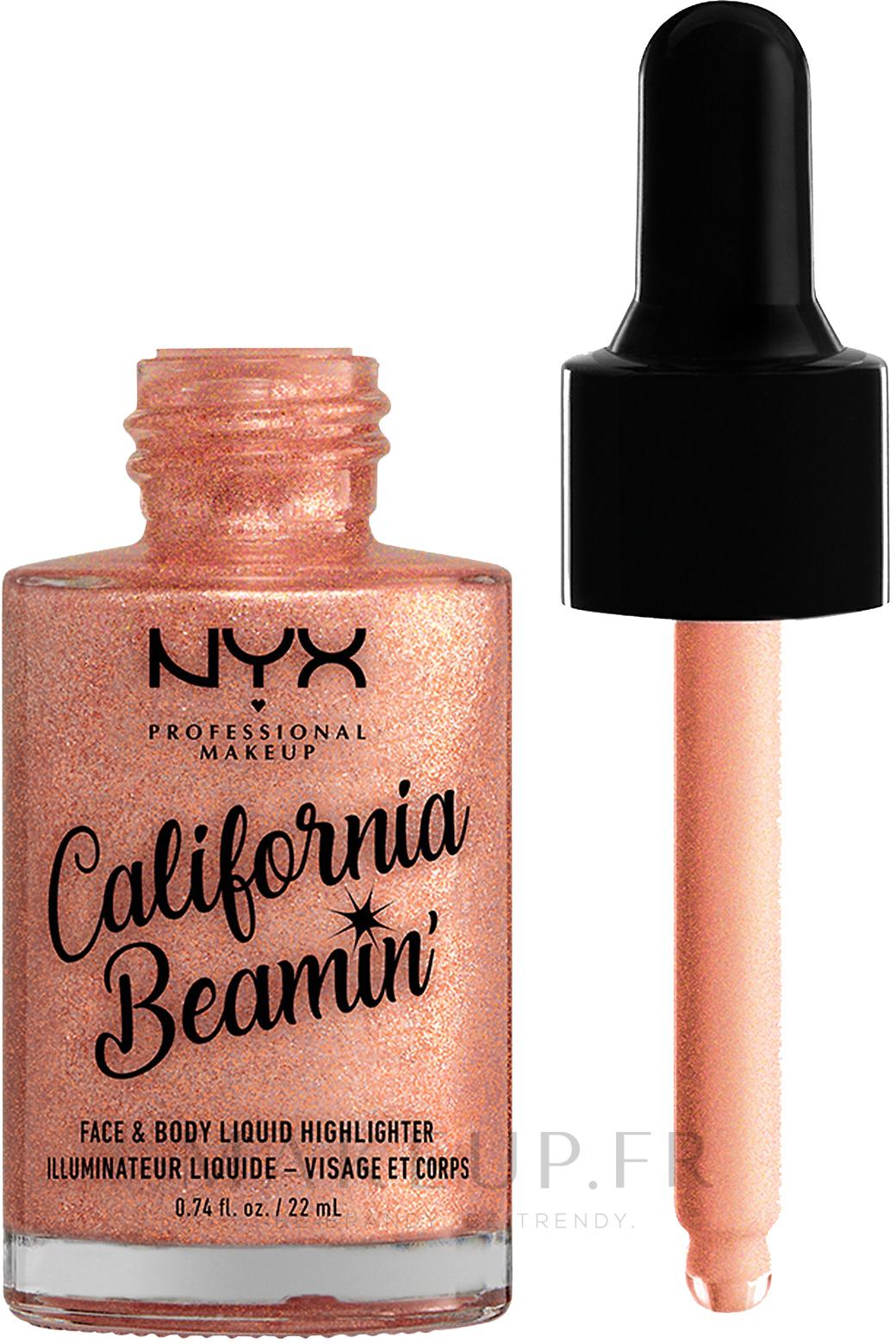 Enlumineur liquide visage et corps - NYX Professional Makeup California Beamin' Face & Body Liquid Highlighter — Photo Beach Baby