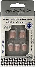 Parfums et Produits cosmétiques Capsules french manucure et colle, 77968, 24 pcs - Top Choice Fashion Design