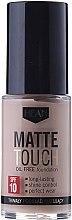 Parfums et Produits cosmétiques Fond de teint matifiant - Hean Matte Touch Oil Free SPF10