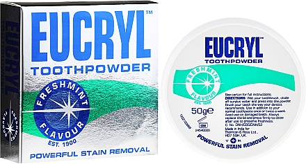 Poudre dentaire - Eucryl Toothpowder Freshmint