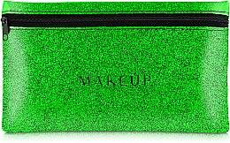 Parfums et Produits cosmétiques Trousse de toilette en silicone, Glitter Pouch, vert, 22 x 13 cm - MakeUp