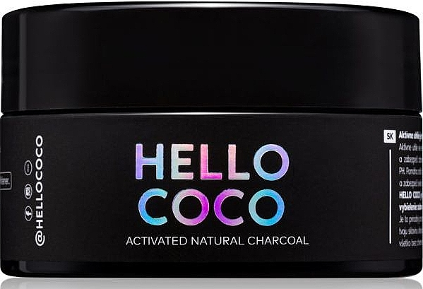 Poudre dentaire au charbon actif - Hello Coco Sweet Mint Activated Natural Charcoal Teeth Whitener — Photo N1