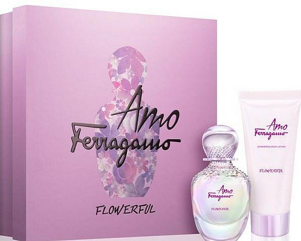 Salvatore Ferragamo Amo Ferragamo Flowerful - Coffret (eau de toilette/50ml + lotion corporelle/100ml) — Photo N1