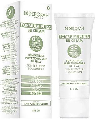 BB Crème naturelle 5 en 1 SPF 20 - Deborah Milano Formula Pura BB Cream 5in1