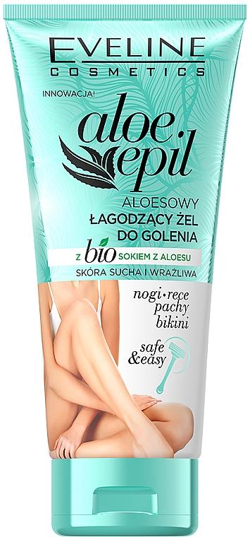 Gel de rasage au jus d'aloe vera - Eveline Cosmetics Aloe Epil