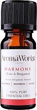 Parfums et Produits cosmétiques Huile essentielle Rose et bergamote - AromaWorks Harmony Essential Oil