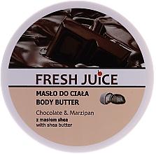 Parfums et Produits cosmétiques Beurre pour corps Chocolat et Massepain - Fresh Juice Body Butter Chocolate & Marzipan With Shea Butter