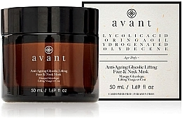 Parfums et Produits cosmétiques Masque anti-age à l'acide acrylique pour visage et cou - Avant Skincare Anti-Ageing Glycolic Lifting Face and Neck Mask