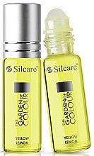 Parfums et Produits cosmétiques Huile pour ongles et cuticules roll-on, parfum citon - Silcare The Garden of Colour Cuticle Oil Roll On Lemon Yellow