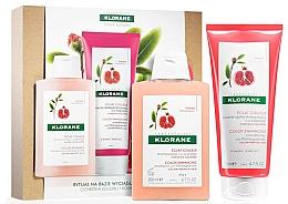 Parfums et Produits cosmétiques Klorane Pomegranate - Set (shampooing/200ml + après-shampooing/200ml)