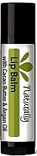 Parfums et Produits cosmétiques Baume à lèvres au beurre de cacao et huile d'argan - Naturally Lip Balm With Cocoa Butter And Argan Oil